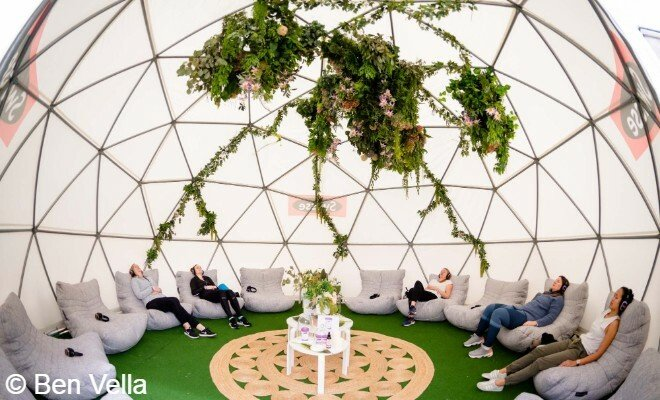 Swisse Dream Dome meditation space