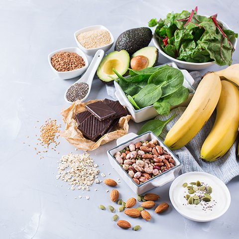 Fruits and Vegetables high in magnesium