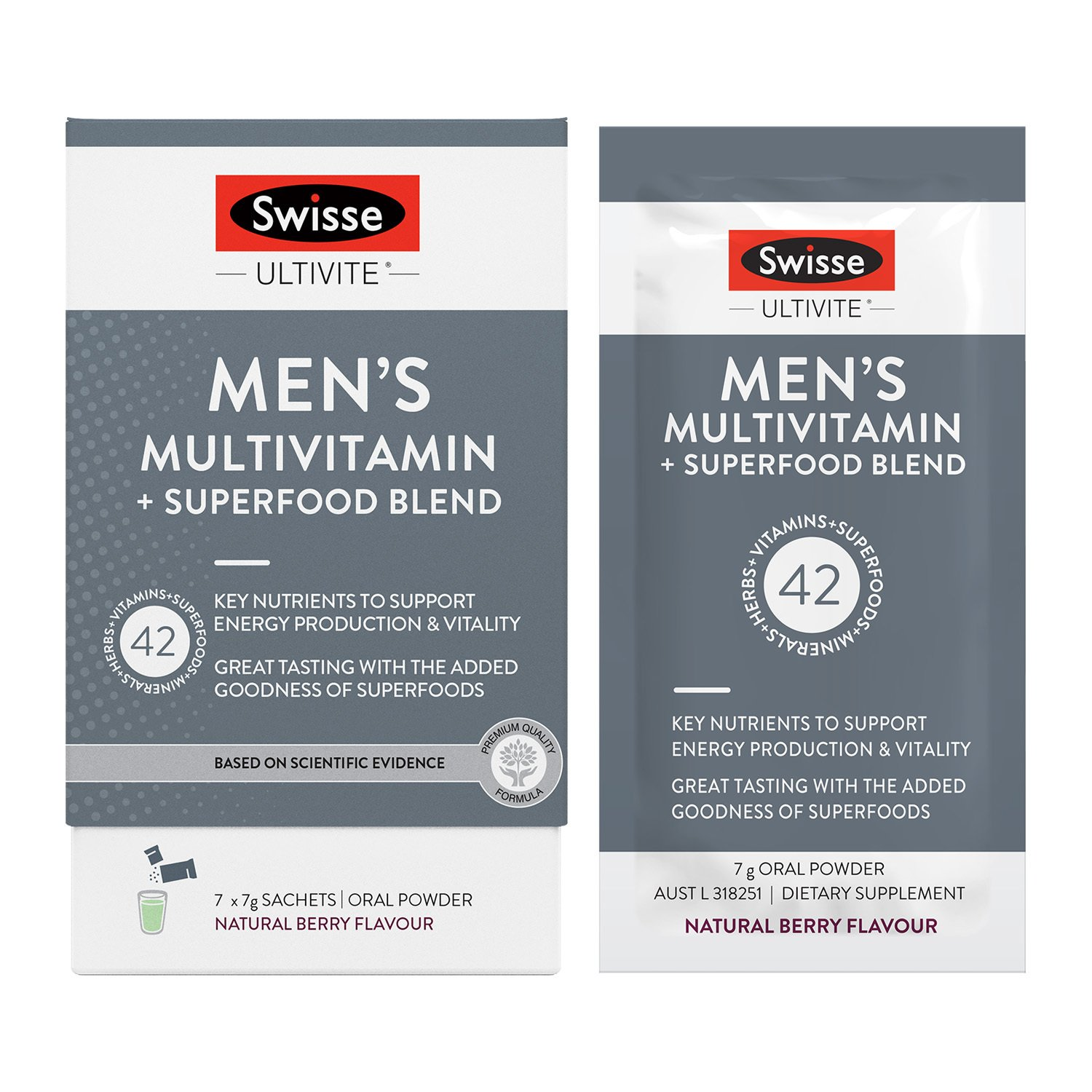 Swisse Ultivite Men's Multivitamin + Superfood Blend is a comprehensive multi-nutrient powder