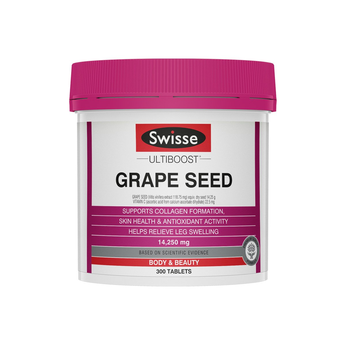 Pack shot of Swisse Product Ultiboost Grape Seed 300 Tabs