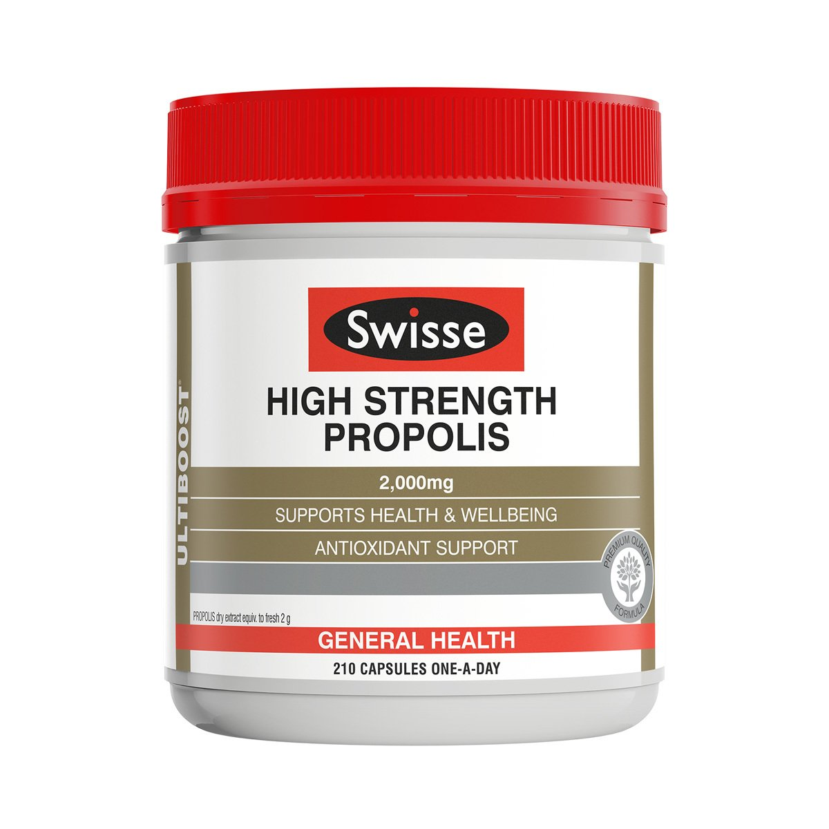 Pack shot of Swisse Product High Strength Propolis 210 caps