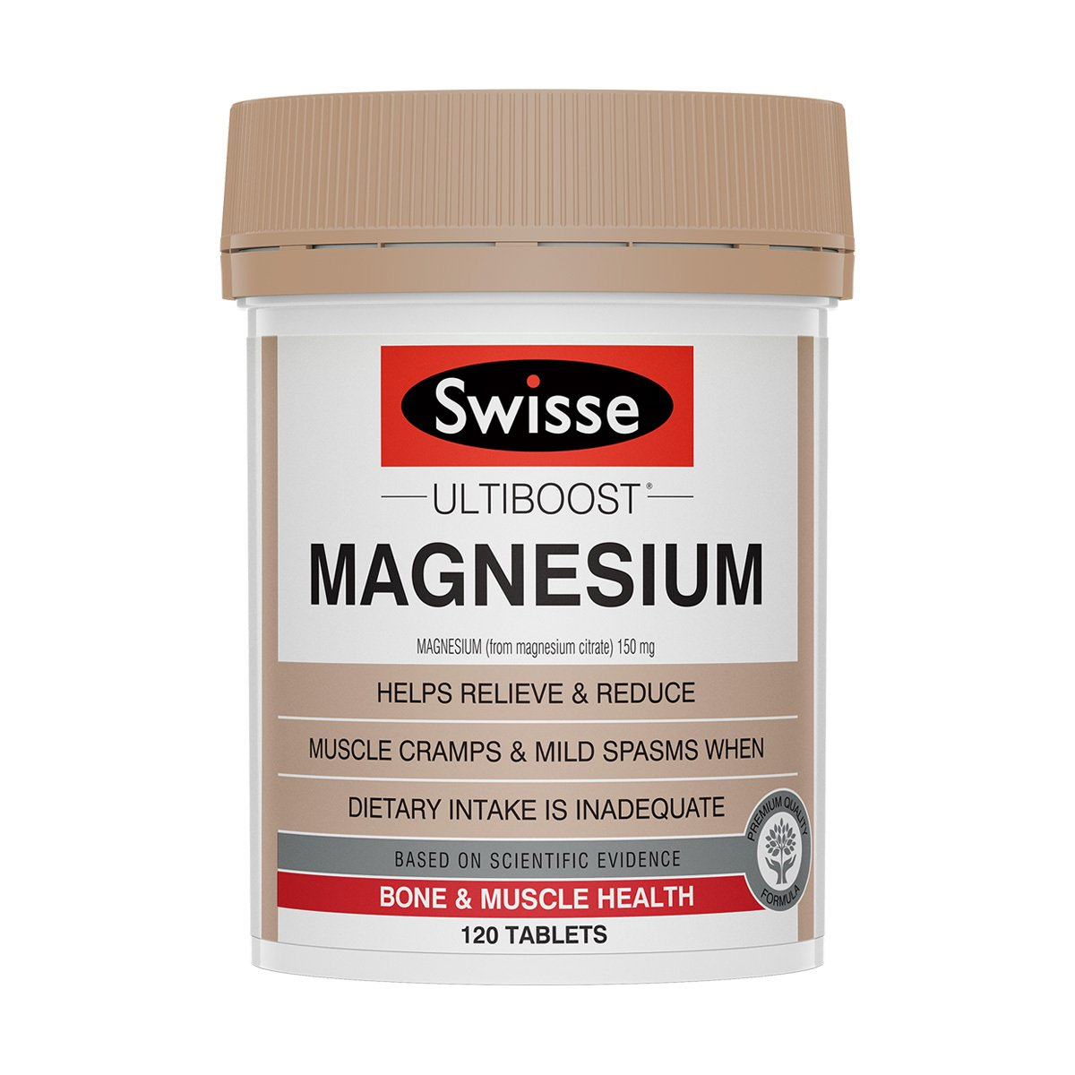 Pack shot of Swisse Product Ultiboost Magnesium 120 tabs