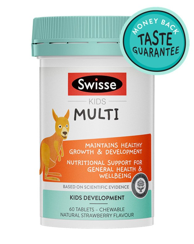Pack shot of Swisse Product Kids Multi 60 Chewable tabs