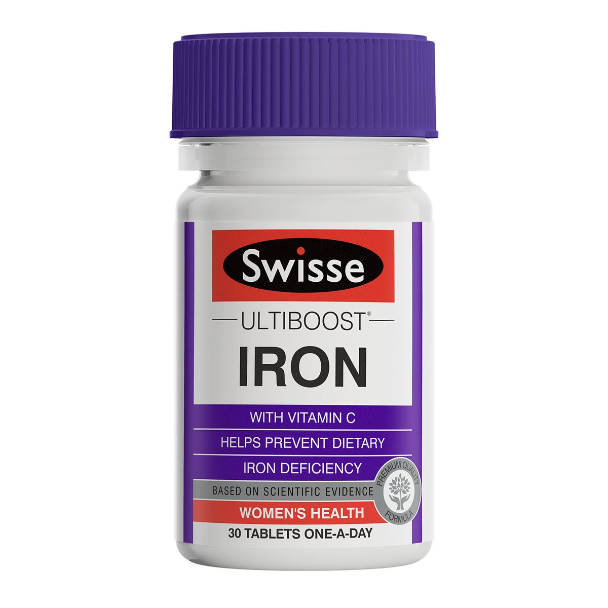 Pack shot of Swisse Product  Ultiboost Iron 30 tabs