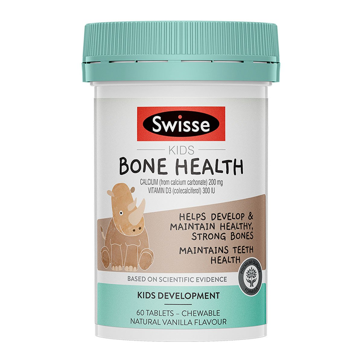 Pack shot of Swisse Product kids bone health 60 tablets - chewable